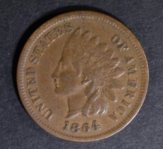 1864 L INDIAN CENT AU