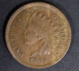 1865 INDIAN CENT VF