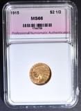 1915 $2.5 GOLD INDIAN  PNA SUPERB GEM