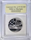 1992-S OLYMPIC COMMEM 50c, USCG PERFECT GEM PROOF