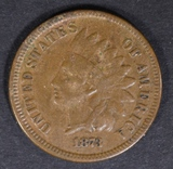 1873 INDIAN CENT VF