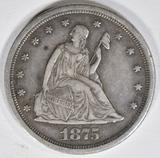 1875-S 20-CENT PIECE  XF