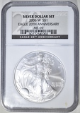 2006-W AMERICAN SILVER EAGLE  NGC MS-69