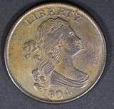 1804 HALF CENT AU