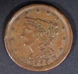 1853 HALF CENT XF RIM BUMPS