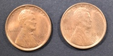2-CH/GEM BU RED 1909 LINCOLN CENTS