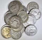 20-CIRC FRANKLIN HALF DOLLARS