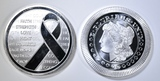 2-ONE OUNCE .999 SILVER ROUNDS: