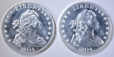 2-ONE OUNCE .999 SILVER ROUNDS