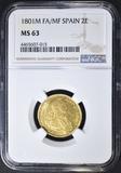 1801M FA/MF SPAIN 2E  NGC MS-63
