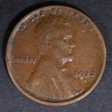 1922-D LINCOLN CENT AU/BU