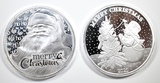 2-2020 1oz .999 SILVER CHRISTMAS  ROUNDS
