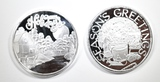 2-2020 1oz .999 HOLIDAY SILVER ROUNDS