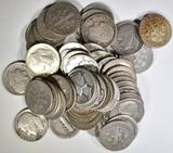 $5 FACE VALUE 90% SILVER DIMES- MIXED