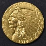 1914 $2.5 GOLD INDIAN, BU