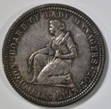 1893 ISABELLA QUARTER  CH BU NICE ALBUM TONE
