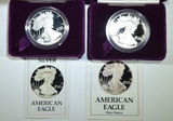 1986-S & 1988-S PROOF AMERICAN SILVER EAGLES