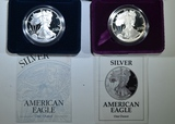 1992-S & 1996-P PROOF AMERICAN SILVER EAGLES