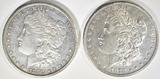 1878-S CH BU & 1879 AU MORGAN DOLLARS