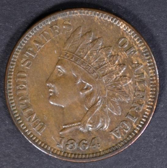 1864 L INDIAN CENT AU/BU
