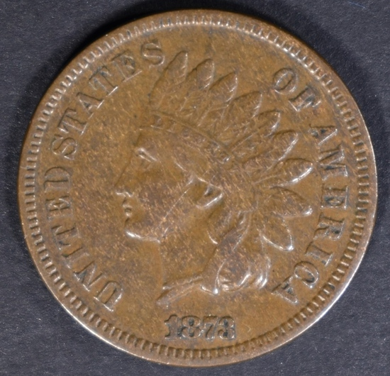 1873 INDIAN CENT VF/XF