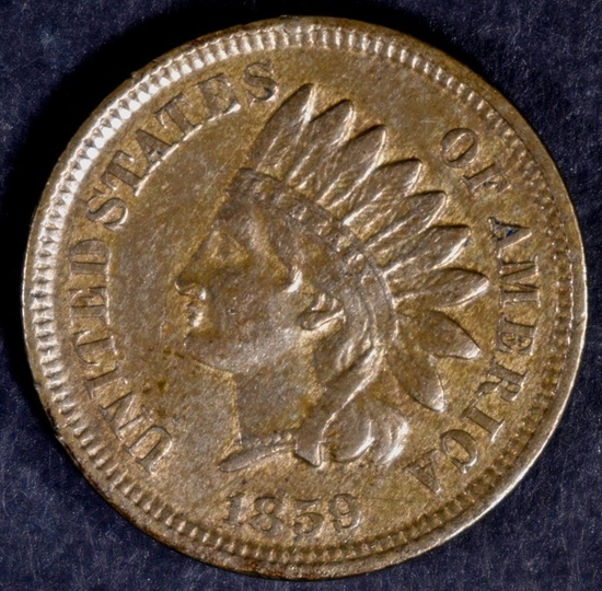 1859 INDIAN CENT XF