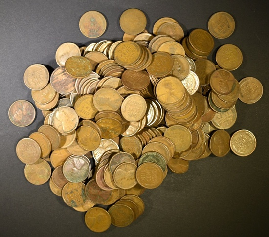 250-CIRC MIXED LINCOLN WHEAT CENTS FROM THE TEENS