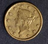 1850-C GOLD DOLLAR  NICE ORIG AU/UNC