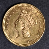 1859 GOLD DOLLAR  NICE BU