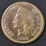 1869 INDIAN HEAD CENT  VG  CLEANED