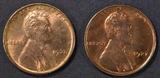 1927 & 28 LINCOLN CENTS  GEM BU