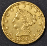 1848-C $2.5 GOLD LIBERTY  CH UNC