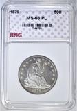 1879 SEATED HALF DOLLAR RNG SUPERB GEM PL