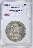 1895-O MORGAN DOLLAR RNG CH BU PL