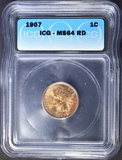 1907 INDIAN CENT ICG MS-64 RD