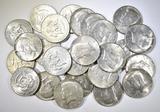 25-40% SILVER U.S. HALF DOLLARS
