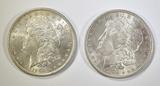 2-AU 1896 MORGAN DOLLARS