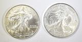 2005 & 2007 BU AMERICAN SILVER EAGLES