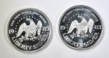 2-ONE OUNCE .999 SILVER LIBERTY ROUNDS