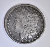 1879-CC MORGAN DOLLAR  VF  SCRATCH REV.