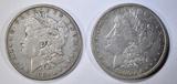 1880 & 81 MORGAN DOLLARS  XF