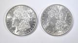 1890  & 91 MORGAN DOLLARS  BU