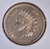 1859 INDIAN HEAD CENT   AU