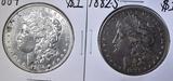 1882-S VF & 1884 BU MORGAN DOLLARS