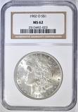 1902-O MORGAN DOLLAR NGC MS-62