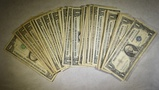 22 $1.00 1957 SILVER CERTS & 34 $1 BARR FRNS