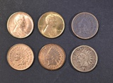 LOT OF 6 MIXED CENTS: