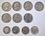 MIXED LOT OF 11 COINS: