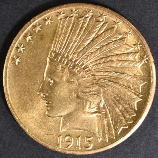 1915-S $10.00 GOLD INDIAN CH BU