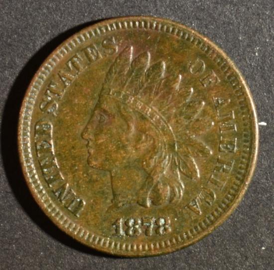 1878 INDIAN HEAD CENT XF/AU